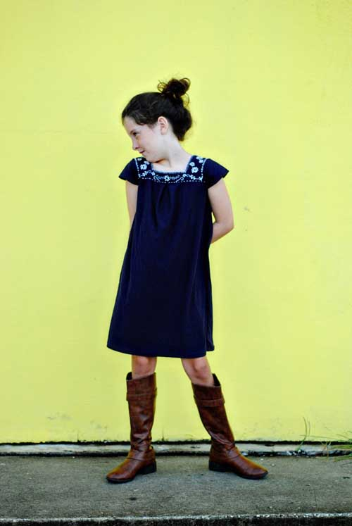 """Flip this Pattern"": Oliver and S, Croquet Dress {sewn by Dandelion Drift}"