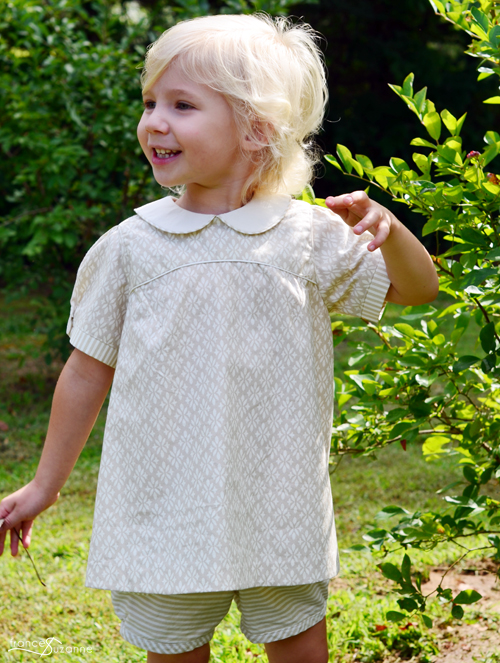 Oliver and S, Puppet Show Tunic and Shorts {sewn by Frances Suzanne}