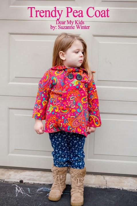 Dear My Kids, Trendy Unisex Pea Coat {sewn by: Winter Wonderings}