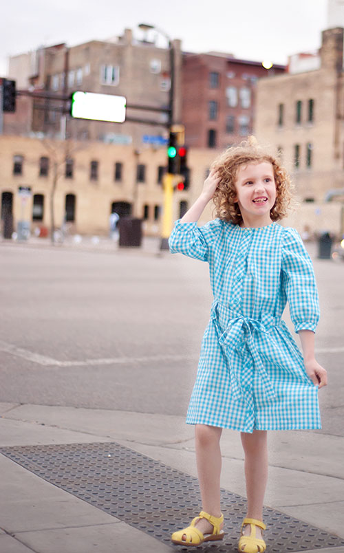 Franklin Dress {sewn by: kid approved}