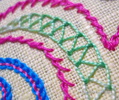 Hand Embroidery: Double Chain Stitch