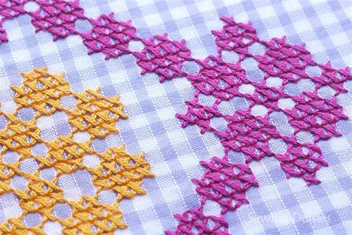 Embroidery Inspiration: Cross-Stitched Gingham