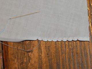 Hand Embroidery: Shell Hem