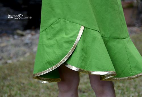 Sewing for Disney: Tinkerbell {O+S, Pinwheel Slip Dress}
