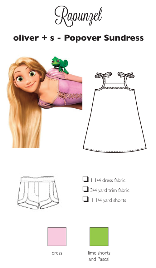 Sewing for Disney: Rapunzel {O+S, Popover Tunic and Picnic Shorts}
