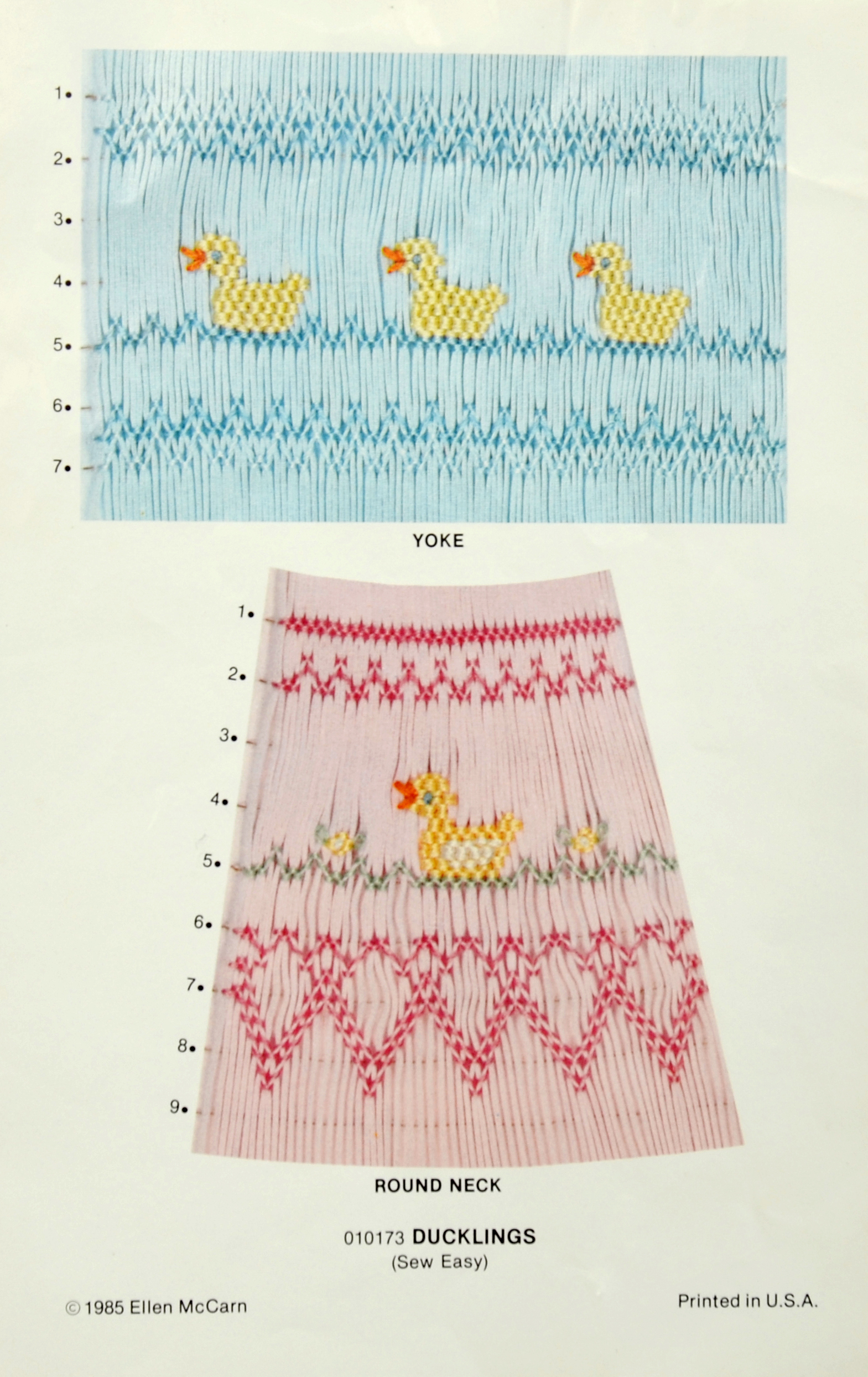 Ducklings, Smocking Plate by Ellen McCarn