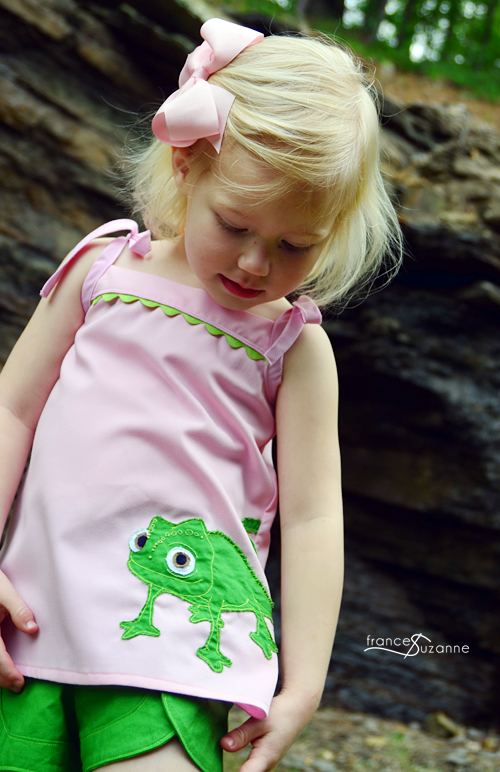 Sewing for Disney: Rapunzel {Oliver + S, Popover Tunic and Class Picnic Shorts}