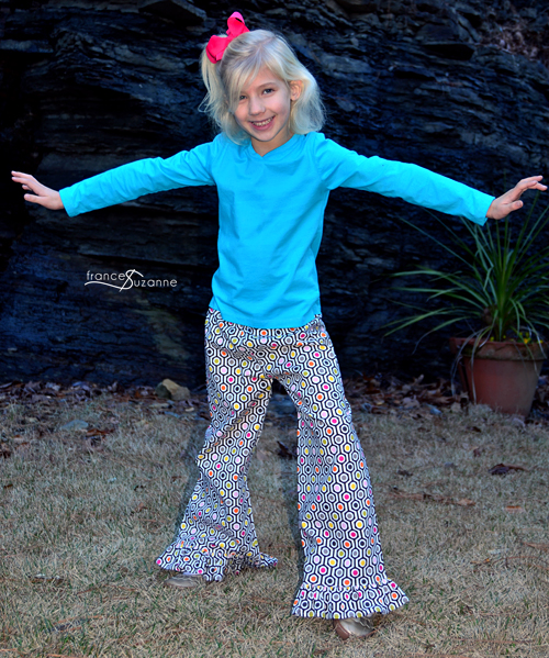 Create Kids Couture, Clarissa Pants {modified hem}