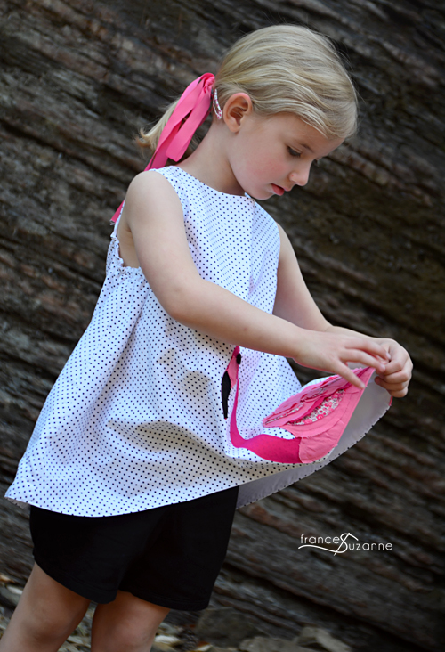 Sewing for Disney: Flamingo {Children's Corner, Frannie and Oliver + S, Puppet Show Shorts}