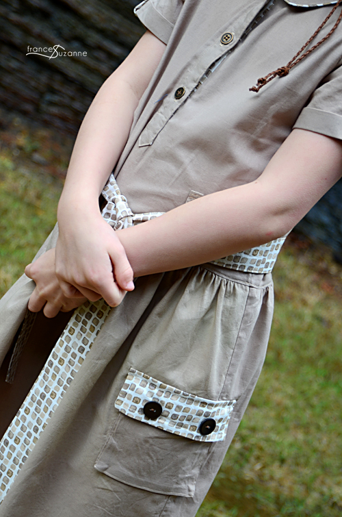 Sewing for Disney: Safari {Oliver + S, Jump Rope Dress}